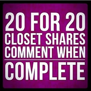 Shoes - Share 20 of mine and I'll share 20 back.